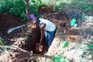 The Water Project: Handidi Community, Chisembe Spring -  Sinking A Latrine Pit