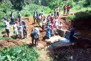 The Water Project: Shirakala Community, Ambani Spring -  Spring Maintenance Training