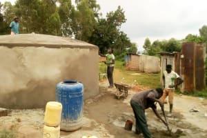 The Water Project: Shikhondi Girls Secondary School -  Tank Construction