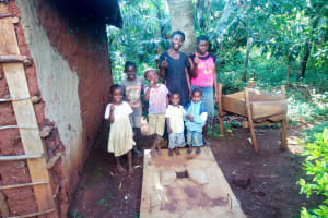 The Water Project: Shirakala Community, Ambani Spring -  Sanitation Platform
