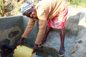 The Water Project: Matsakha Community, Siseche Spring -  Flowing Water