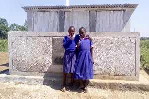 The Water Project: Makuchi Primary School -  Finished Latrines
