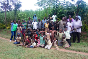 The Water Project: Handidi Community, Chisembe Spring -  Group Picture