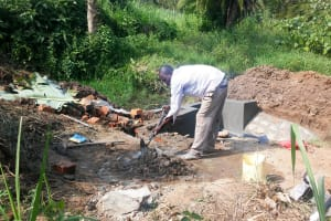 The Water Project: Luvambo Community, Timona Spring -  Spring Construction