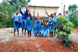 The Water Project: Eshilibo Primary School -  Finished Latrines