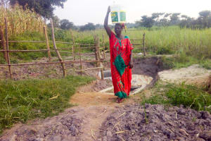 The Water Project: Chebwayi B Community, Wambutsi Spring -  Finished Spring Protection