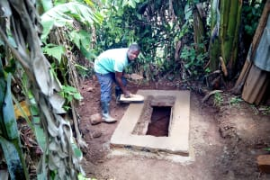 The Water Project: Irumbi Community, Shatsala Spring -  Getting The Pit Ready For A Sanitation Platform