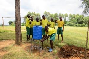 The Water Project: Jidereri Primary School -  Handwashing Station
