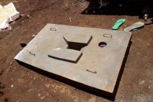 The Water Project: Irumbi Community, Shatsala Spring -  Sanitation Platform For New Latrine