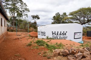 The Water Project: Muunguu Primary School -  Finished Tank