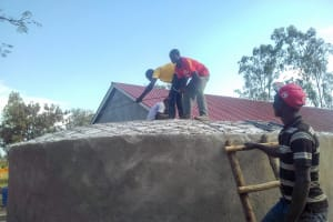 The Water Project: Joyland Special Secondary School -  Tank Dome Construction