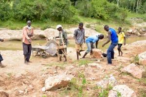 The Water Project: Ngitini Community -  Sand Dam Construction