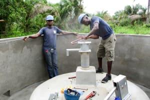 The Water Project: PC Bai Shebora Gbereh III Primary School -  Pump Installation