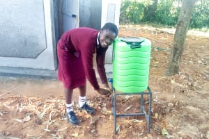 The Water Project: Shikhondi Girls Secondary School -  New Latrines And Handwashing Stations