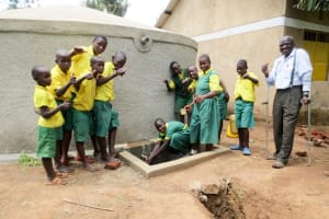 The Water Project: Jidereri Primary School -  Finished Rainwater Tank