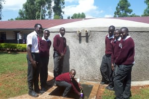 The Water Project: Imusutsu High School -  Finished Tank