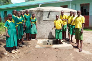 The Water Project: Madegwa Primary School -  Finished Tank