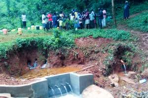 The Water Project: Shirakala Community, Ambani Spring -  Training Held At The Construction Site