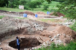 The Water Project: Utuneni Community A -  Well Construction