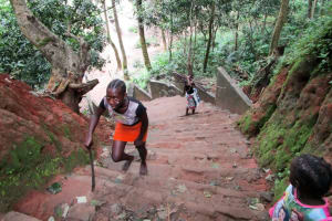 The Water Project: Lungi Town, 112 Alimamy Seray Modu Road -  Stairs Leading To The Alternative Source