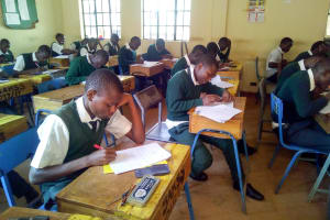 The Water Project: Kwirenyi Secondary School -  Students In Class