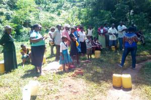 The Water Project: Shirakala Community, Ambani Spring -  Training