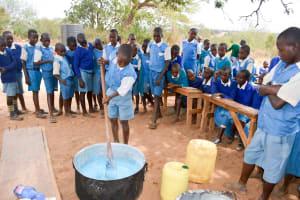 The Water Project: Muunguu Primary School -  Making Soap