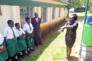 The Water Project: ACK Milimani Girls' Secondary School -  Handwashing Training