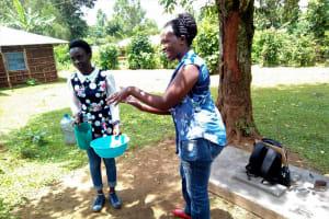 The Water Project: Irumbi Community, Shatsala Spring -  Handwashing Training