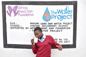 The Water Project: Uvaani Secondary School -  Naomi Ndinda
