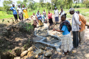 The Water Project: Muyundi Community, Ngalame Spring -  Spring Management Training