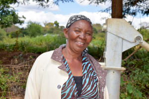 The Water Project: Nzalae Community A -  Mary Kitheka