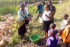 The Water Project: Chebwayi B Community, Wambutsi Spring -  Handwashing Training