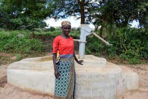 The Water Project: Nzalae Community A -  Florence Mwanziu