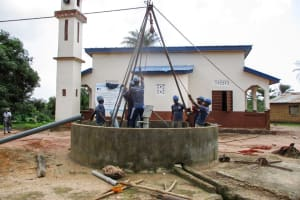 The Water Project: Mabendo Community, Mosque -  Drilling