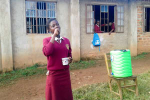 The Water Project: Shikhondi Girls Secondary School -  Toothbrushing Demonstration