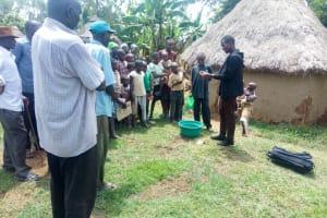 The Water Project: Handidi Community, Chisembe Spring -  Handwashing Training