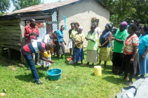 The Water Project: Luvambo Community, Timona Spring -  Handwashing Training