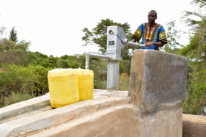 The Water Project: Ngitini Community A -  Finished Well