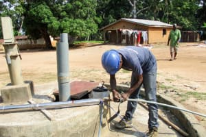 The Water Project: Mabendo Community -  Flushing