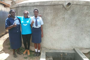 The Water Project: Ikonyero Secondary School -  Patricia Owano And Valentine Modi