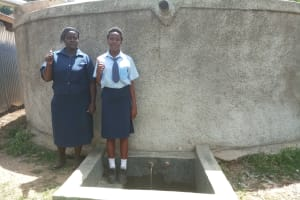 The Water Project: Ikonyero Secondary School -  Thumbs Up For Reliable Water
