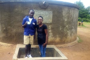 The Water Project: Emmabwi Primary School -  Raphael Nyangweso Standing At The Tank