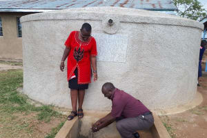 The Water Project: Musudzu Primary School -  David Fetches Water