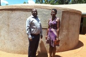 The Water Project: Walodeya Primary School -  Head Teacher Ingolo Sammy With Field Staff Jemmimah Khasoha