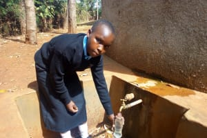 The Water Project: Friends Secondary School Shamakhokho -  Ivy Kagea Collecting Water At The Tank