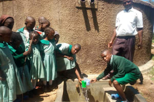 The Water Project: Eshisuru Primary School -  Reliable Water