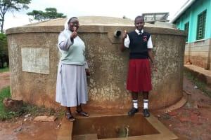 The Water Project: Bishop Sulumeti Girls Secondary School -  Sister Jane Amukoye And Lorine Muguni