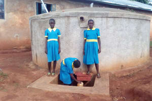 The Water Project: Ematsuli Primary School -  Winfred Mudesia Fetches Water
