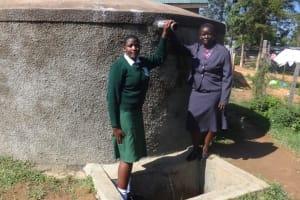 The Water Project: Ibinzo Girls Secondary School -  Maureen Lumula And Principal Esther Abel